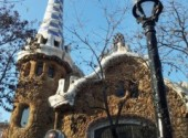 Constructions and architecture Park Güell de Antoni Gaudí à Barcelone.