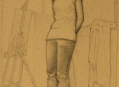 Art - Crayon Standing model v