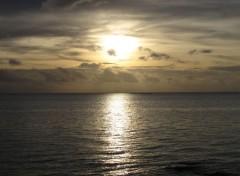 Voyages : Océanie Coucher de soleil de Moorea