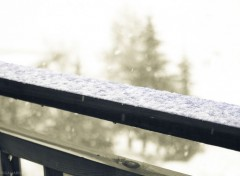 Nature Balcon sous la neige