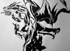 Art - Crayon Dragon tatouage
