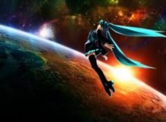 Manga Miku in space