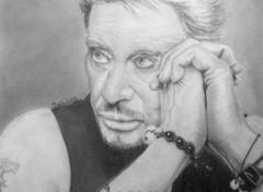 Art - Crayon Johnny Hallyday