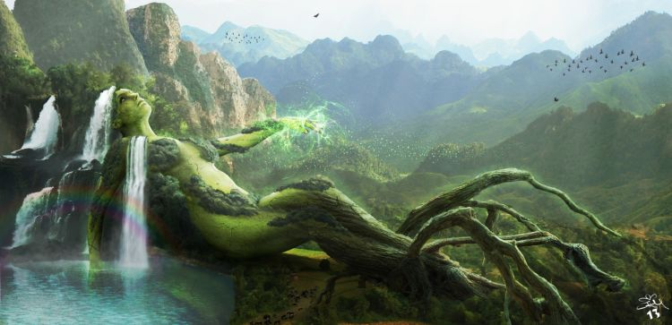 Fonds d'écran Fantasy et Science Fiction Paysages Fantasy NATURE VI- Mother