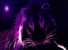 Art - Numérique tigre mauve