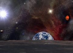 Digital Art Earth Rise