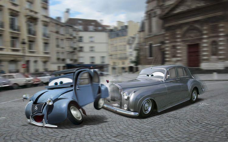 Fonds d'écran Dessins Animés Cars 1 et 2 Le Corniaud