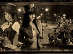 Fantasy and Science Fiction Moto Steampunk