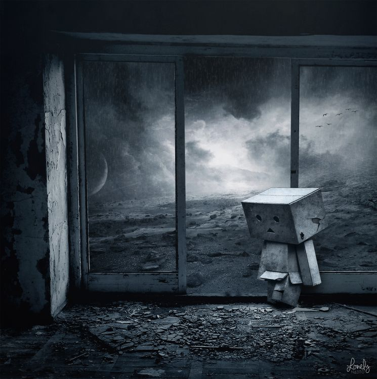 Wallpapers Objects Danbo Lonely