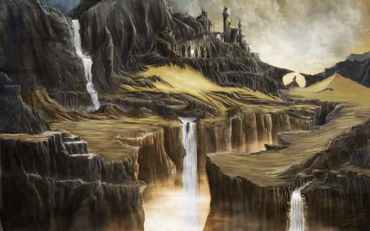 Fonds d'écran Fantasy et Science Fiction Paysages Fantasy digital painting 11 (ABISMUS)