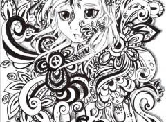 Art - Crayon hebus black & wihte