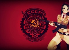 Erotic Art AK-47  Girl - CCCP
