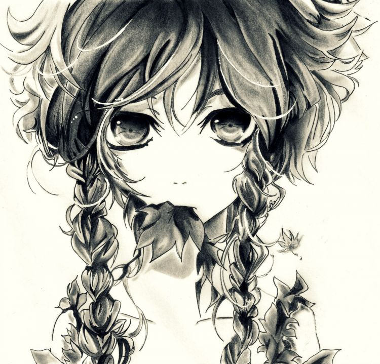 Wallpapers Art - Pencil Manga - Miscellaneous AutumnGirl