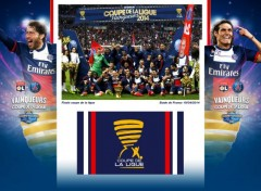 Sports - Loisirs PSG Vainqueurs de la coupe de la ligue 2014