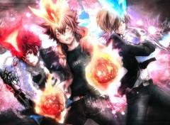 Manga REBORN! Hyper trio, tsuna enma and basil