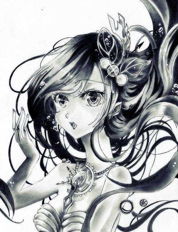 Fonds d'écran Art - Crayon Personnages Aqua