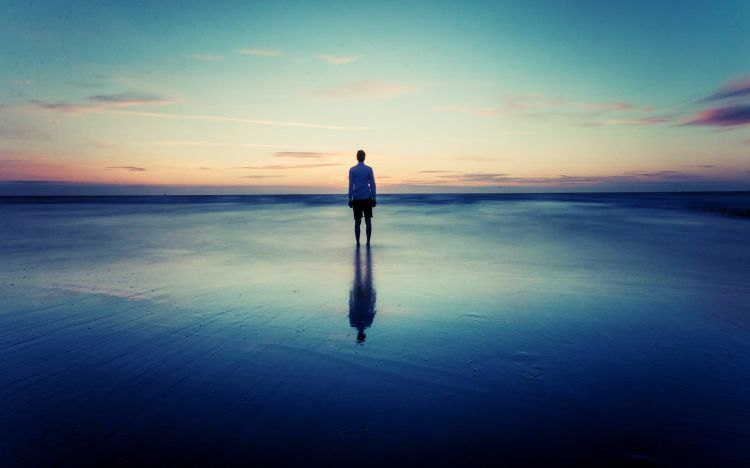 Wallpapers People - Events Moments of life Un Homme, seul face a la mer...