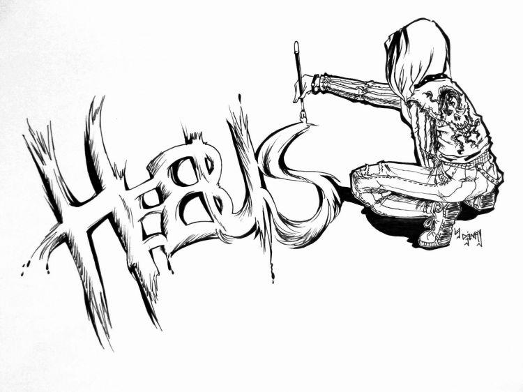 Fonds d'écran Art - Crayon Manga - Divers hebus black & wihte 2