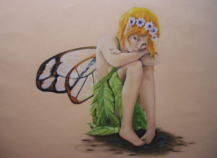 Fonds d'écran Art - Crayon Fantasy - Fées je vous emerde