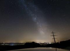 Space La voie lactée au solstice d'été