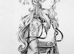 Art - Crayon black & white manga