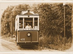 Various transports ancien tramways