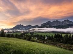 Voyages : Europe Coucher de soleil Autrichien