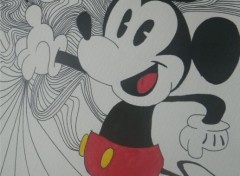 Art - Crayon Mickey mouse