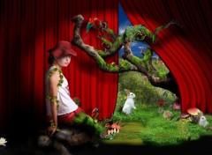 Art - Numérique Rose et le petit théatre de la nature.