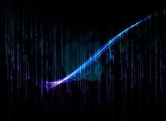 Informatique apple matrix bleue