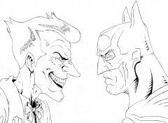 Art - Crayon Batman VS Joker