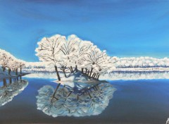 Art - Painting reflet d'hiver