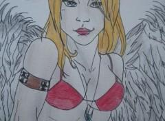 Art - Pencil Femme ange