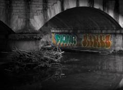 Constructions et architecture Graffiti sous un pont