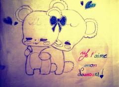 Art - Crayon Un amour de Nounours