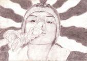 wallpaper Portraits (cat�gorie wallpapers Art - Crayon)