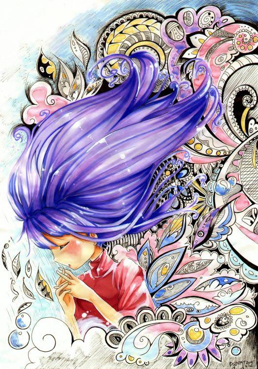Fonds d'écran Art - Crayon Manga - Divers Lost Dreams