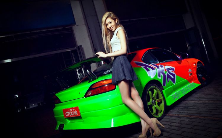 Wallpapers Cars Girls and cars Wallpaper N°400758