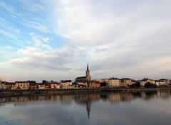 Constructions et architecture Replonges - Vue depuis Mâcon