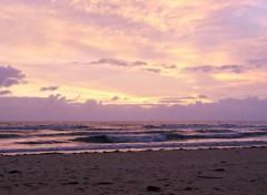 Nature lever de soleil en bord de mer