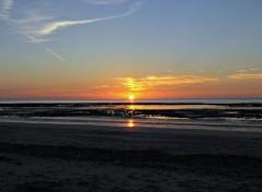 Nature coucher du soleil: vue de la plage de Villerville (dép 14) n°2