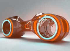 Digital Art Orange Tron
