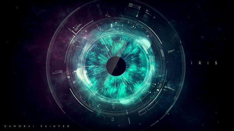 Fonds d'écran Art - Numérique Abstrait Iris