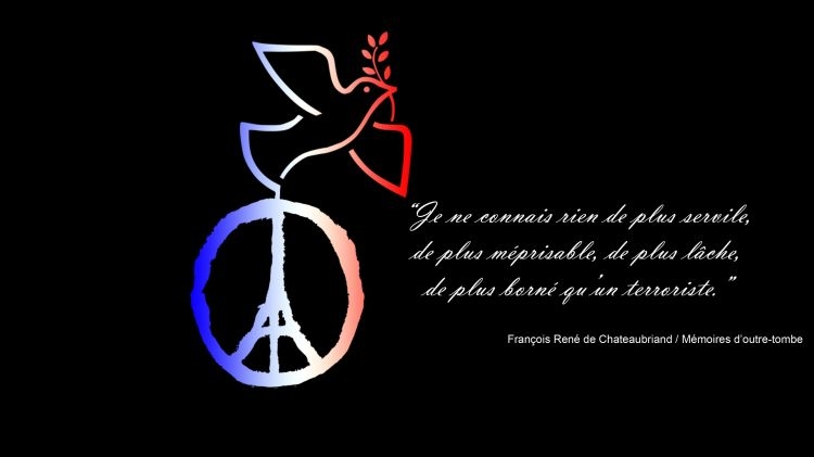 Fonds d'écran Hommes - Evênements Actualité Pray for Paris - #jesuisparis