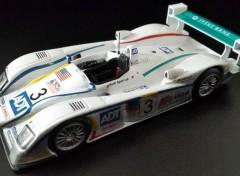 Voitures Audi R8 victorieuse des 24 Heures du Mans 2005