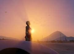 Video Games Bimbo et auto sur GTA V