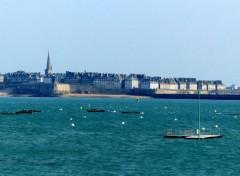 Voyages : Europe Saint-Malo vu de Dinard