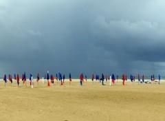Voyages : Europe Gros grain sur la plage de Deauville