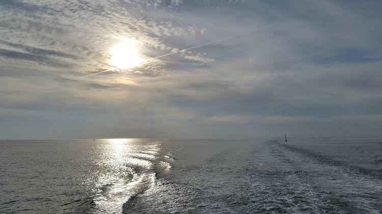 Wallpapers Nature Seas - Oceans - Beaches La mer en fin de journée