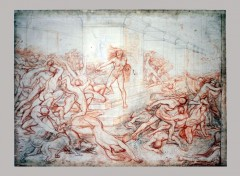 Art - Pencil Athalie ordonnant le massacre des enfants de la race royale de David - vers 1823 - Xavier Sigalon